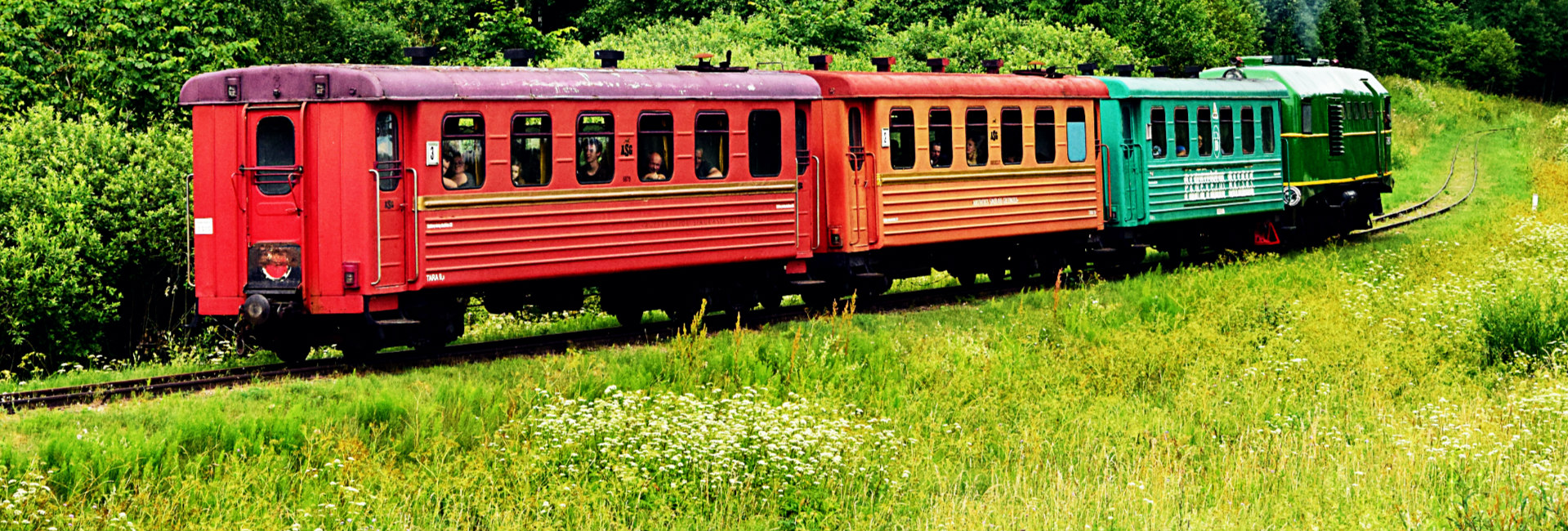 Vintage train in Lithuania
